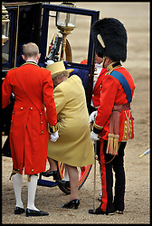 HM The Queen and The Duke Of Edinburgh leave Horse Guards Parade for the Queen's Trooping of the Colour, The Queen's Birthday Parade, Saturday June 16, 2012. Photo by Andrew Parsons/i-Images..All Rights Reserved ©Andrew Parsons/i-Images .See Special Instructions