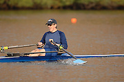 Boston, USA, Senior Masters Men, Gregory BENNING, competing in the Head of the Charles, Race Charles River,  Cambridge,  Massachusetts. Sunday  20/10/2007  [Mandatory Credit Peter Spurrier/Intersport Images]..... , Rowing Course; Charles River. Boston. USA