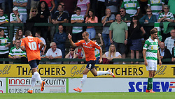 Paul Benson of Luton Town celebrates his sides goal - Photo mandatory by-line: Harry Trump/JMP - Mobile: 07966 386802 - 22/08/15 - SPORT - FOOTBALL - Sky Bet League Two - Yeovil Town v Luton Town - Huish Park, Yeovil, England.