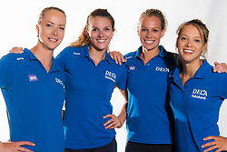 02-07-2018 NED: EC Beachteams Netherlands, The Hague<br /> (L-R) Madelein Meppelink, Jolien Sinnema, Sanne keizer, Laura Bloem