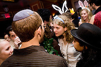 March 22nd 2008. Havana Central, New York, NY. Jewish Costume Purim Party at Havana Central at the West End, 2991 Broadway (113th street). Party organized by twin brothers Seth and Isaac Galena, from bangitout.com, a jewish humour website.<br /> <br /> Reporter: Bleyer,Jennifer: 917-279-2078<br /> email: bleyer@nytimes.com<br /> ©2008 Gianni Cipriano<br /> cell. +1 646 465 2168 (USA)<br /> cell. +1 328 567 7923 (Italy)<br /> gianni@giannicipriano.com<br /> www.giannicipriano.com