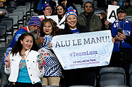 SYDNEY, AUSTRALIA - SEPTEMBER 07: Samoan fans during the international rugby test match between the Australian Wallabies and Manu Samoa on September 07, 2019 at Bankwest Stadium in Sydney, Australia. (Photo by Speed Media/Icon Sportswire)