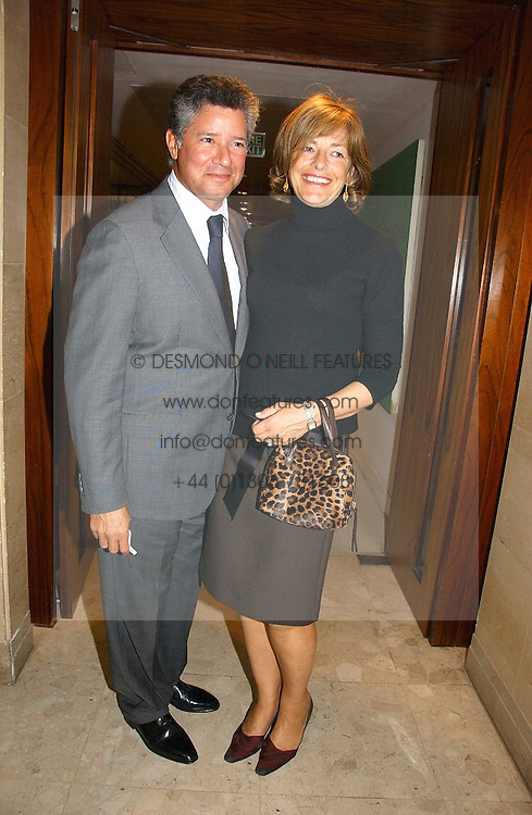 Writer FLORA FRASER and her husband PETER SOROS at a party to celebrate the publication of Diana by Sarah Bradford held at 80 The Strand, London on 27th September 2006.<br />