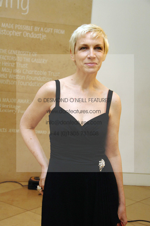 Singer ANNIE LENNOX at a private view of Bryan Adam's photographs entitled 'Modern Muses' held at The National Portrait Gallery, London on 11th March 2008.<br /><br />NON EXCLUSIVE - WORLD RIGHTS