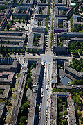 Nederland, Amsterdam, Rivierenbuurt, 12-05-2009; Rijnstraat, kruising met Vrijheidslaan.Swart collectie, luchtfoto (toeslag); Swart Collection, aerial photo (additional fee required).foto Siebe Swart / photo Siebe Swart