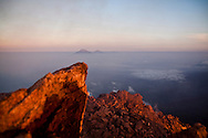 The view from Mount Merapi's summit at sunrise, Central Java, Indonesia, Southeast Asia