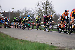Barbara Guarischi looks to move up the group - Energiewacht Tour 2016 - Stage 4a. A 75 km road race starting and finishing in Zuidhorn, Netherlands on April 9th 2016.