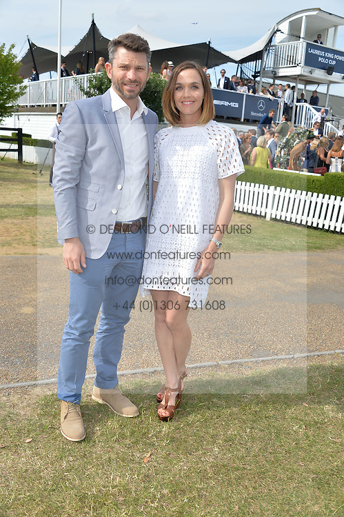 VICTORIA PENDLETON and SCOTT GARDNER at the Laureus Polo held at Ham Polo Club, Ham, Richmond, Surrey on 18th June 2015.