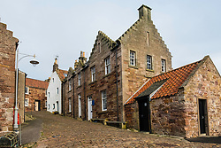 View of old houses in Crail on East Neuk of Fife in Scotland, United Kingdom