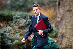 © Licensed to London News Pictures. 29/01/2018. London, UK. Defence Secretary Gavin Williamson arriving in Downing Street to attend a Brexit meeting this morning. Photo credit : Tom Nicholson/LNP