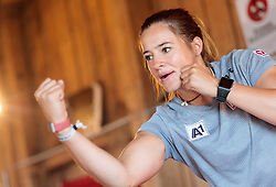 19.06.2017, Powerhof, Adnet, AUT, OeSV, Boxtraining Damen Slalom Team, im Bild Katharina Huber (AUT) // during a Boxing Training Camp of the Austrian Ladies Slalom Team at the Powerhof in Adnet, Austria on 2017/06/19. EXPA Pictures © 2017, PhotoCredit: EXPA/ JFK