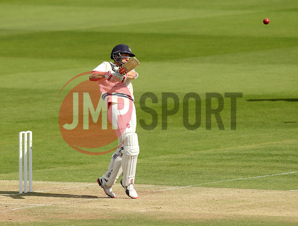 Middlesex's Josh Simpson strikes the ball - Photo mandatory by-line: Robbie Stephenson/JMP - Mobile: 07966 386802 - 03/05/2015 - SPORT - Football - London - Lords  - Middlesex CCC v Durham CCC - County Championship Division One