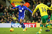 Birmingham City midfielder David Davis (26) on the ball during the EFL Sky Bet Championship match between Norwich City and Birmingham City at Carrow Road, Norwich, England on 28 January 2017. Photo by Nigel Cole.