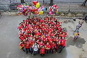Team photo of the Operation Smile Hanoi team on the morning of the final day of surgery.<br /> <br /> 25th Anniversary of Operation Smile in Vietnam mission November 15th - 23rd 2014.  Vietnam Cuba Friendship Hospital. Hanoi. Vietnam.<br /> <br /> (Operation Smile Photo - Zute Lightfoot)