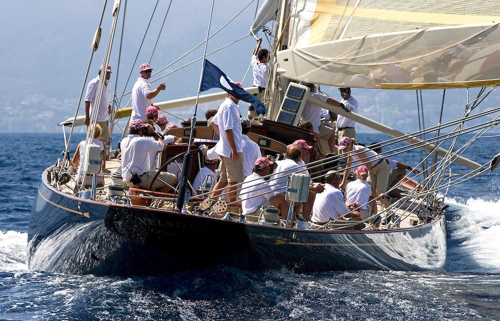 "Valencia/Spain/THE SUPERYACHT CUP PALMA 2007/17JUN07. J class yacht ""Velsheda"" under spinnaker"