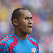 Luis Robles, New York Red Bulls, during the New York Red Bulls Vs Arsenal FC,  friendly football match for the New York Cup at Red Bull Arena, Harrison, New Jersey. USA. 26h July 2014. Photo Tim Clayton
