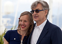 Photographer Donata Wenders and Director Wim Wenders at the Pope Francis – A Man Of His Word (Le Pape François – Un Homme De Parole) film photo call at the 71st Cannes Film Festival, Sunday 13th May 2018, Cannes, France. Photo credit: Doreen Kennedy
