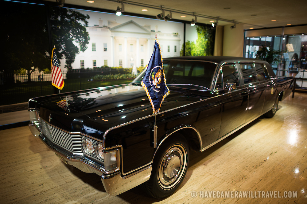 LBJ's presidential limousine on display at the LBJ Library. The LBJ Library and Museum (LBJ Presidnetial Library) is one of the 13 presidential libraries administered by the National Archives and Records Administration. It houses historical documents from Lyndon Johnson's presidency and political life as well as a museum.