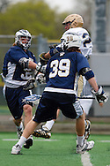 May 1, 2009:   #32 Tuthill, Bailey of Quinnipiac, #39 Elliott, Pat of Quinnipiac  and #28 Zach Brenneman of Notre Dame  in action during the NCAA Lacrosse game between Notre Dame and Quinnipiac at GWLL Tournament in Birmingham, Michigan. (Credit Image: Rick Osentoski/Cal Sport Media) i