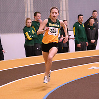 Kelsey Haczkewicz in action during the 2018 Canada West Track & Field Championship on February  24 at James Daly Fieldhouse. Credit: Arthur Ward/Arthur Images