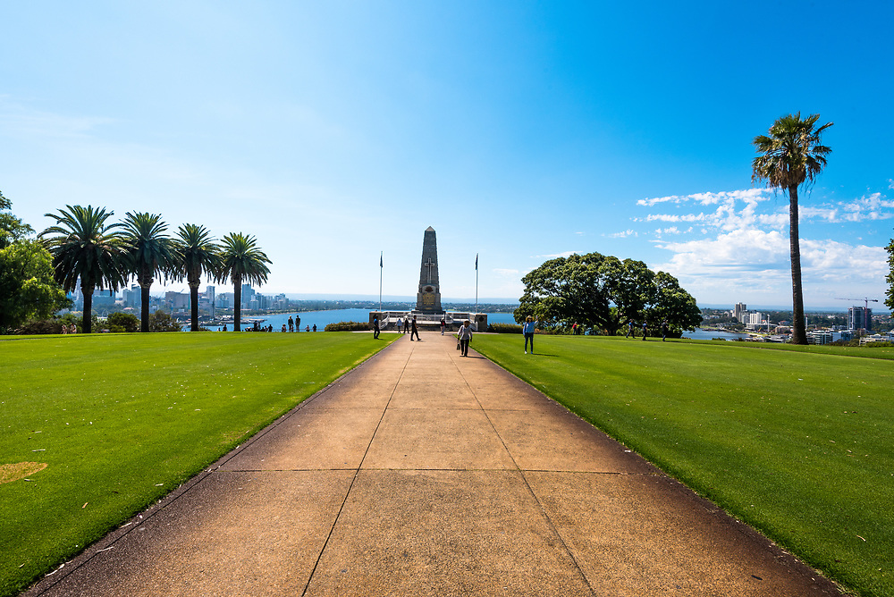 King's Park, Peth, Australia--February 6, 2018. A war memorial in Perth Australia dedicated to the sacrifice of soldiers in WW1 and subsequent wars. Editorial Use Only.