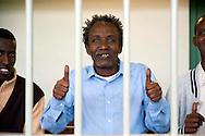 Roma 23  Marzo 2012 .Inizia il processo a nove somali nell'aula bunker di Rebibbia,accusati di pirateria sequestro di persona per finalità di terrorismo, detenzione di armi da guerra e danneggiamento con l'aggravante della finalità di terrorismo. Il dieci ottobre 2011 assaltarono la nave italiana portacontainer Montecristo al largo della Somalia, tenendo prigionieri nel golfo di Aden,  23 uomini dell'equipaggio. Furono catturati dalle forze armate inglesi. L'imputato Ahmed Malimed Ali..