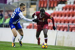LEIGH, ENGLAND - Wednesday, February 28, 2018: Liverpool's Bobby Adekanye during the Under-23 FA Premier League International Cup Quarter-Final match between Liverpool and FC Porto at Leigh Sports Village. (Pic by Paul Greenwood/Propaganda)