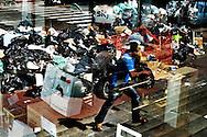 Napoli, Italia - 11 maggio 2011. Un cumulo di rifiuti ammassati lungo una dlee vie del centro di Napoli. A pochi giorni dalle elezioni comunali, le tonnellate di rifiuti ammassate lungo le strade della citta? partenopea continuano ad aumentare. L'intervento dell'esercito non ha ancora portato ad evidenti miglioramenti..Ph. Roberto Salomone Ag. Controluce.ITALY : A huge pile of uncollected garbage is seen in downtown Naples on May 11, 2001. Tons of waste is accumulating day by day in the streets of Naples and its suburbs and the intervention of the italian army has not yet brought to an improvement of the situation.