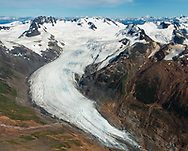 Glaciers and mountains beside Brucejack and KSM mines.  Transboundary Mines, 2017