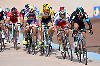Arrival Sprint / WIGGINS Bradley (GBR)/ KRISTOFF Alexander (NOR)/ VANMARCKE Sep (BEL)/ SAGAN Peter (SVK)/ SENECHAL Florian (FRA)/ TERPSTRA Niki (NED), Compiegne - Roubaix (253,5Km)/ during the famous cycling race Paris Roubaix with paving stones paths on april 12, 2015 - Photo Tim de Waele / DPPI