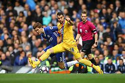 Cesar Azpilicueta of Chelsea blocks Marcos Alonso of Chelsea - Mandatory by-line: Jason Brown/JMP - 01/04/2017 - FOOTBALL - Stamford Bridge - London, England - Chelsea v Crystal Palace - Premier League