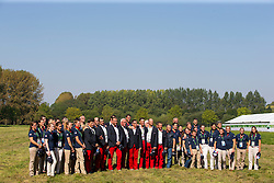 Benjamin Aillaud, Staphane Chouzenoux, Thibault Coudry, Anthony Horse, Fabrice Martin, Sebastien Mourier, Sebastien Vincent, Francois Vogel, (FRA) - Horse Inspection Driving - Alltech FEI World Equestrian Games™ 2014 - Normandy, France.<br /> © Hippo Foto Team - Leanjo de Koster<br /> 25/06/14