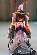 © Tony Nandi. 03/05/2014. Made up of disabled and non-disabled dancers, Stopgap Dance Company performs the London premiere of its latest work Artificial Things, following a critically acclaimed UK and European tour. Lillian Baylis Studio, Sadler's Wells Theatre, London. Picture features Amy Butler & David Toole.