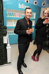 JULIEN MACDONALD at a party to celebrate the publication of Camilla Morton's book 'A Year in High Heals' held at Bliss Spa, 60 Slaone Avenue, London on 5th February 2009.