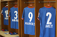 FC Goa dressing room during the 1st semi final match of the Hero Super Cup between East Bengal and FC Goa held at the Kalinga Stadium, Bhubaneswar, India on the 16th April 2018<br /> <br /> Photo by: Deepak Malik / SPORTZPICS