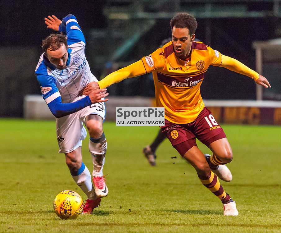 #25 Chris Kane (St Johnstone) and #18 Charles Dunne (Motherwell) - Motherwell v St Johnstone - Ladbrokes Premiership - 06 February 2018 - © Russel Hutcheson | SportPix.org.uk
