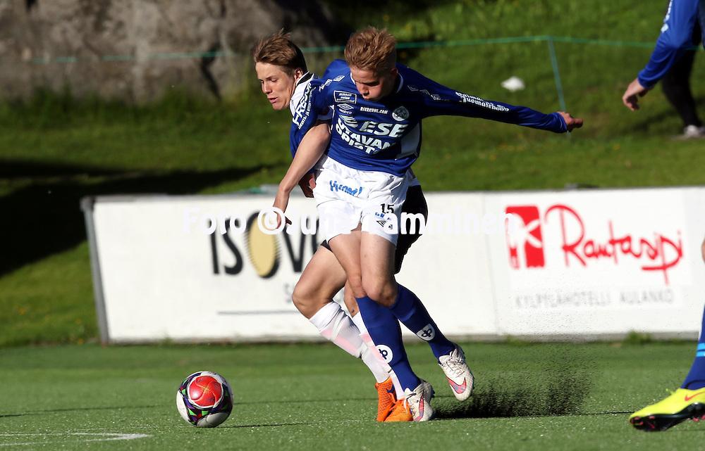 4.6.2015, Tehtaan kentt&auml;, Valkeakoski.<br /> Ykk&ouml;nen 2015.<br /> FC Haka - Mikkelin Palloilijat.<br /> Jasse Tuominen - MP