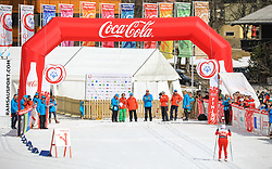 17.03.2017, Ramsau am Dachstein, AUT, Special Olympics 2017, Wintergames, Langlauf, Divisioning 5 km Classic, im Bild der Zieleinlauf von Claudia Schmidt (SUI) // during the Cross Country Divisioning 5 km Classic at the Special Olympics World Winter Games Austria 2017 in Ramsau am Dachstein, Austria on 2017/03/17. EXPA Pictures © 2017, PhotoCredit: EXPA / Martin Huber