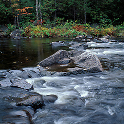 Nahmakanta Stream, ME. Northern Forest. The 100 Mile Wilderness section of the Appalachian Trail. Fall foliage.