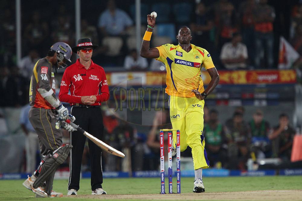 Jason Holder during match 54 of the Pepsi Indian Premier League between The Sunrisers Hyderabad and Chennai Superkings held at the Rajiv Gandhi International  Stadium, Hyderabad  on the 8th May 2013..Photo by Ron Gaunt-IPL-SPORTZPICS ..Use of this image is subject to the terms and conditions as outlined by the BCCI. These terms can be found by following this link:..http://www.sportzpics.co.za/image/I0000SoRagM2cIEc