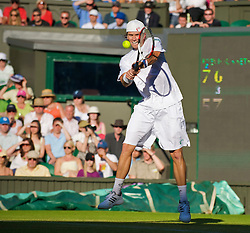 LONDON, ENGLAND - Tuesday, June 23, 2009: Robert Kendrick (USA) during his Gentlemen's Singles 1st Round match on day two of the Wimbledon Lawn Tennis Championships at the All England Lawn Tennis and Croquet Club. (Pic by David Rawcliffe/Propaganda)