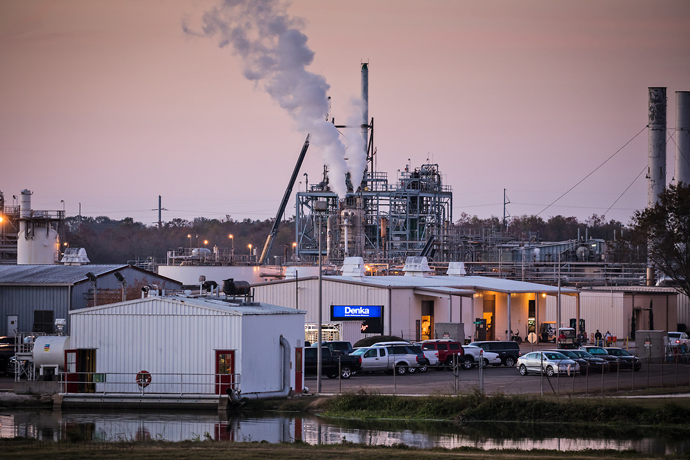 Denka Performance Elastomer factory  in LaPlace, Louisiana at sunset. Denka's LaPlace factory, formerly owned by DuPont, emits chloroprene and 28 other chemicals used to make the synthetic rubber commonly known as Neoprene. In 2010 the EPA reclassified chloroprene as a likely human carcinogen, a fact the community only learned about at the end of 2016. Dec 1, 2017.