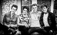 The Vamps - Bradley Simpson, James McVey, Tristan Evans and Connor Ball on Sunday Brunch 19-01-2014.<br />