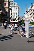 Municipal bike rental station. Vienna, Austria