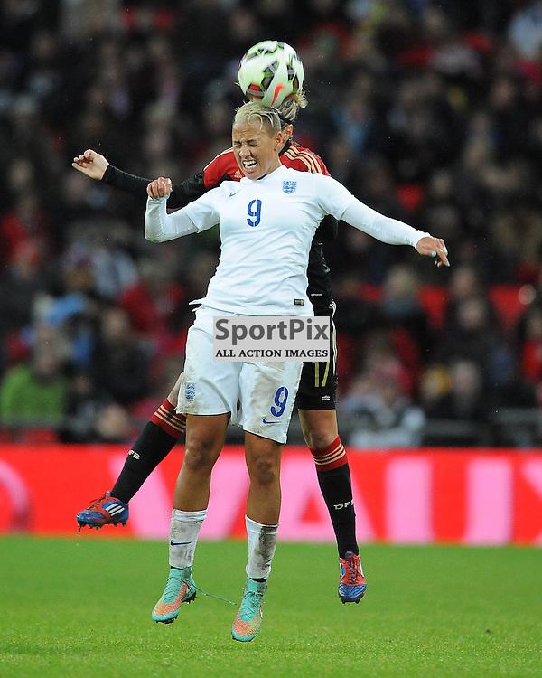 England's Lianne Sanderson, battles with Germanys Jennifer Cramer, England v Germany Ladies, Breast Cancer Care International, Wembley , Sunday 23rd November 2014