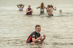 The annual impromptu dip in the sea on Portobello Beach<br /> © Jon Davey/ EEm