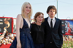31.08.2013, Canal Grande, Venedig, ITA, La Biennale, 70. Filmfestspiele von Venedig, Night moves, im Bild Dakota Fanning, Kelly Reichardt, Jesse Eisenberg // during a photocall for the movie 'Night moves' of the 70th Venice International Film Festival at Canal Grande in Venice, Italy on 2013/08/31. EXPA Pictures © 2013, PhotoCredit: EXPA/ Newspix/ Dave Bedrosian<br /> <br /> ***** ATTENTION - for AUT, SLO, CRO, SRB, BIH, TUR, SUI and SWE only *****