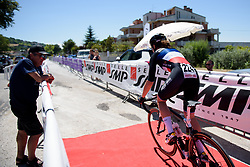 Audrey Cordon Ragot charges down the start ramp on Stage 5 of the Giro Rosa - a 12.7 km individual time trial, starting and finishing in Sant'Elpido A Mare on July 4, 2017, in Fermo, Italy. (Photo by Sean Robinson/Velofocus.com)
