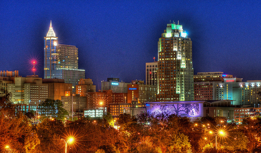 Downtown Raleigh skyline, North Carolina