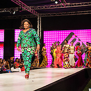 Lydie Malingumu during the Kinshasa Fashion Week. CAPTA/FEDERICO SCOPPA